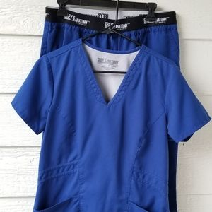 Grey's Anatomy Galaxy Blue Scrub Set